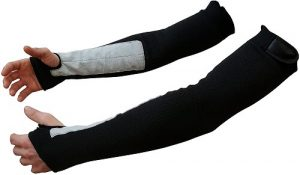 Black Kevlar Protective Arm Sleeves